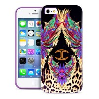 Чехол PURO JUST CAVALLI Wings PURPLE для iPhone 5/5S