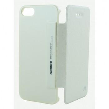 Чехол Remax Leather Case Ice Cream Seriese White для iPhone 5
