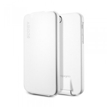 Чехол Spigen Leather Case Argos WHITE для iPhone 5
