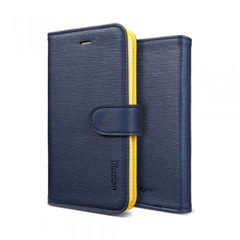 Чехол SGP Leather Case illuzion Lemon Indigo для iPhone 5/5S