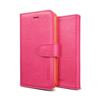 Чехол SGP Leather Case illuzion Mandarine Rosa для iPhone 5/5S
