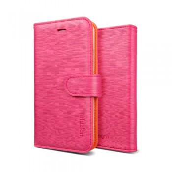 Чехол Spigen Leather Case illuzion Mandarine Rosa для iPhone 5/5S