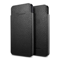 Чехол Spigen Leather Pouch Crumena S BLACK для iPhone 5/5S