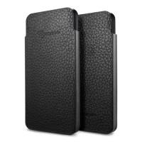 Чехол Spigen Leather Pouch Crumena S BLACK для iPhone 5/5S