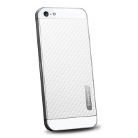 Пленка защитная SGP Skin Guard Set Series Carbon WHITE для iPhone 5