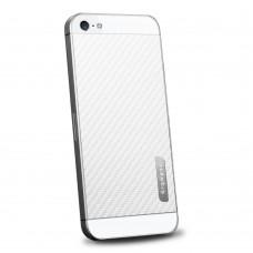 Пленка защитная SGP Skin Guard Set Series Carbon WHITE для iPhone 5