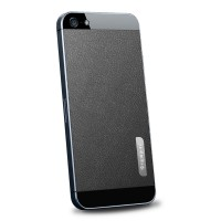 Пленка защитная SGP Skin Guard Set Series Leather BLACK для iPhone 5