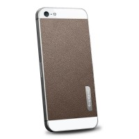Пленка защитная SGP Skin Guard Set Series Leather BROWN для iPhone 5