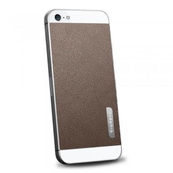 Пленка защитная SGP Skin Guard Set Series Leather BROWN для iPhone 5