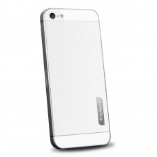 Пленка защитная SGP Skin Guard Set Series Leather WHITE для iPhone 5