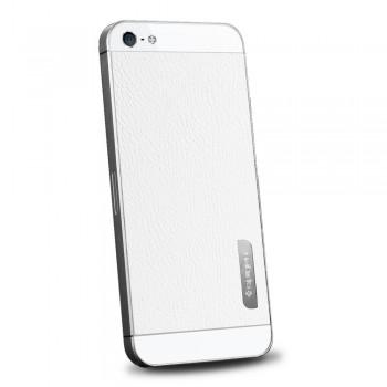 Пленка защитная SGP Skin Guard Set Series Leather WHITE для iPhone 5