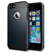 Чехол пластиковый Spigen Case Tough Armor METAL SLATE для iPhone 5/5S