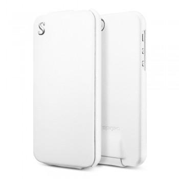 Чехол Spigen Leather Case illuzion Legend WHITE для iPhone 5/5S