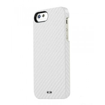 Чехол TUNEWEAR Carbon Look Cover Case WHITE для iPhone 5