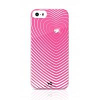 Чехол пластиковый White Diamonds Heartbeat PINK для iPhone 5/5S