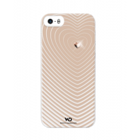 Чехол пластиковый White Diamonds Heartbeat ROSE GOLD для iPhone 5/5S