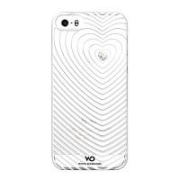 Чехол пластиковый White Diamonds Heartbeat WHITE для iPhone 5/5S