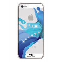 Чехол пластиковый White Diamonds Liquids BLUE для iPhone 5/5S
