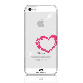 Чехол пластиковый White Diamonds Lipstick Heart для iPhone 5/5S