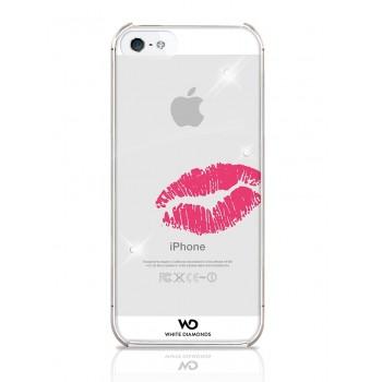 Чехол пластиковый White Diamonds Lipstick Kiss для iPhone 5/5S
