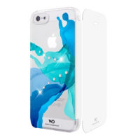 Чехол пластиковый White Diamonds Liquids Booklet BLUE для iPhone 5/5S