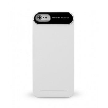 Чехол пластиковый Zenus Metal Edge Case WHITE для iPhone 5
