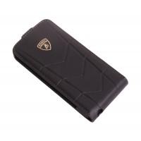 Чехол Lamborghini Aventador-D1 Flip Case BLACK для iPhone 5/5S
