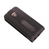 Чехол Lamborghini Aventador-D2 Flip Case BLACK для iPhone 5/5S