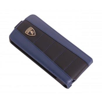 Чехол Lamborghini Gallardo-D1 Flip Case BLACK/BLUE для iPhone 5/5S