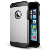 """Чехол пластиковый противоударный Spigen Tough Armor SATIN SILVER для iPhone 6 4.7"""""""