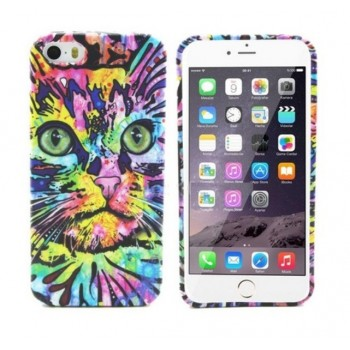 Чехол Luxo 3D Bright Print Aztec Animal Faces Cat для iPhone 6/6S