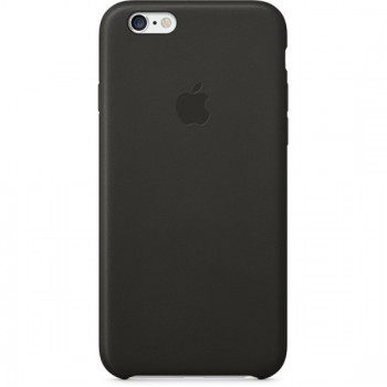 Чехол Apple Leather Case Black для iPhone 6/6S