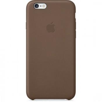 Чехол Apple Leather Case Dark Brown для iPhone 6/6S