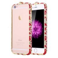 Бампер металлический Fancy Color Diamond Red Gold для iPhone 6/6s