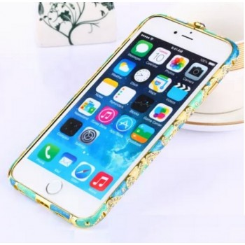 Бампер металлический Fancy Color Diamond Blue Navy Blue для iPhone 6/6s