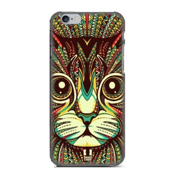 Чехол пластиковый Luxo Funky Animal Aztec Glow In The Dark 3D Кот для iPhone 6/6S