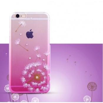 Чехол пластиковый Kingxbar Dandelion Flower Swarovski Crystal Pink для iPhone 6/6S