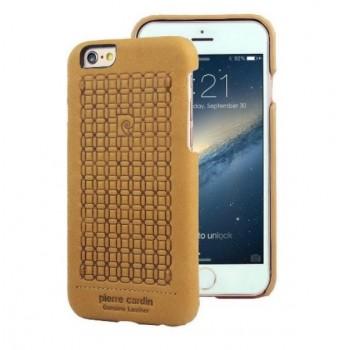 Чехол Pierre Cardin Premium Leather Case Brown для iPhone 6/6S