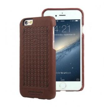 Чехол Pierre Cardin Premium Leather Case Dark Brown для iPhone 6/6S