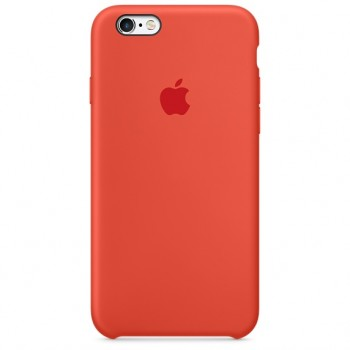 Чехол силиконовый Apple Silicone Spicy Orange для Apple iPhone 6/6s