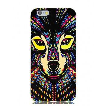 Чехол пластиковый Luxo Funky Animal Aztec Glow In The Dark 3D Собака для iPhone 6 Plus