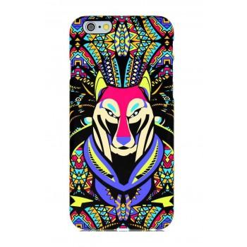 Чехол пластиковый Luxo Funky Animal Aztec Glow In The Dark 3D Волк для iPhone 6 Plus