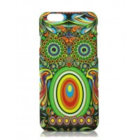 Чехол пластиковый Luxo Funky Animal Aztec Glow In The Dark 3D Сова для iPhone 6 Plus