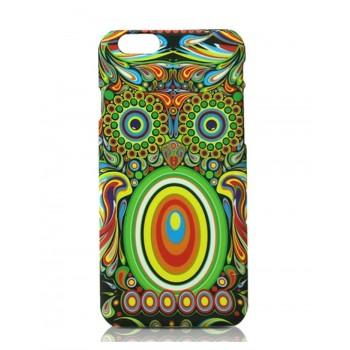 Чехол пластиковый Luxo Funky Animal Aztec Glow In The Dark 3D Сова для iPhone 6 Plus
