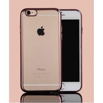 Чехол силиконовый прозрачный с цветной окантовкой Golden Rose для iPhone 6 Plus