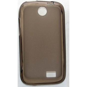 Чехол силиконовый полупрозрачный Silicone Matte Gloss Case Black для Lenovo А208t