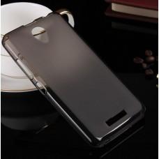 Чехол силиконовый полупрозрачный Silicone Matte Gloss Case Grey для Lenovo A5000