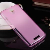 Чехол силиконовый полупрозрачный Silicone Matte Gloss Case Pink для Lenovo A5000