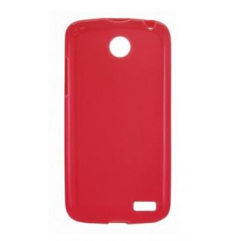 Чехол силиконовый Silicone Matte Gloss Case Red для Lenovo A516