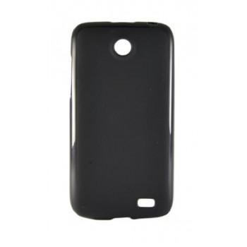 Чехол силиконовый Silicone Matte Gloss Case Black для Lenovo A516